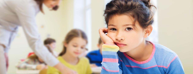 traumatized child in classroom