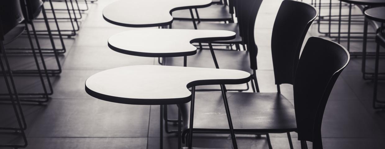 empty desks at a treatment center